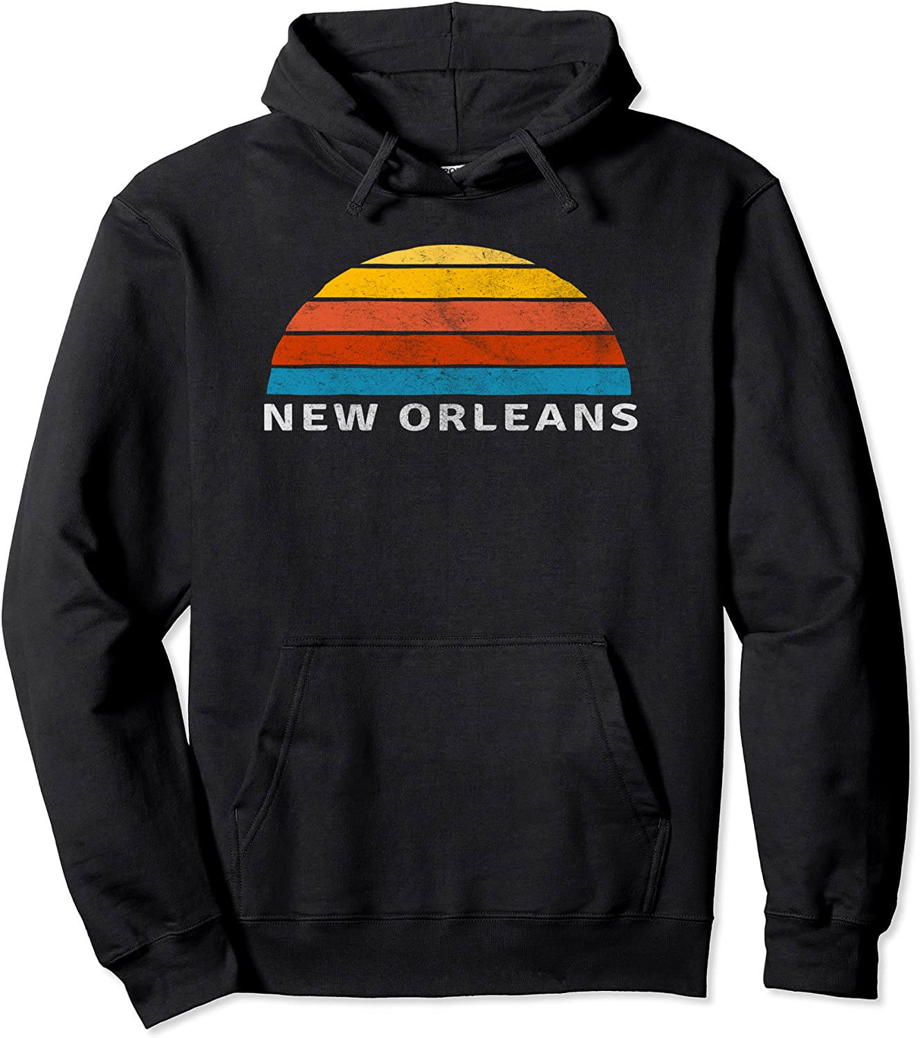 New Orleans Retro Sunset Pullover Hoodie