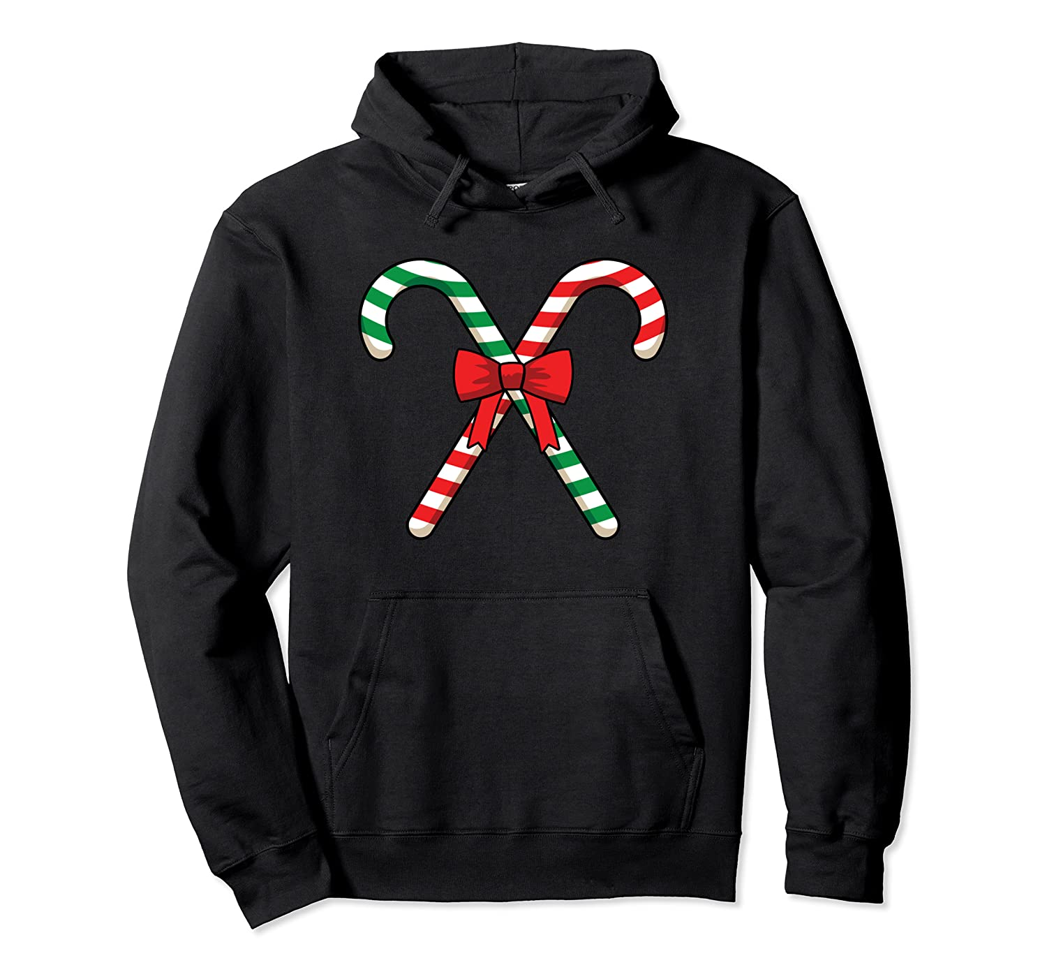 Big Giant Two Candy Canes Merry Christmas Funny Family Party Pullover Hoodie