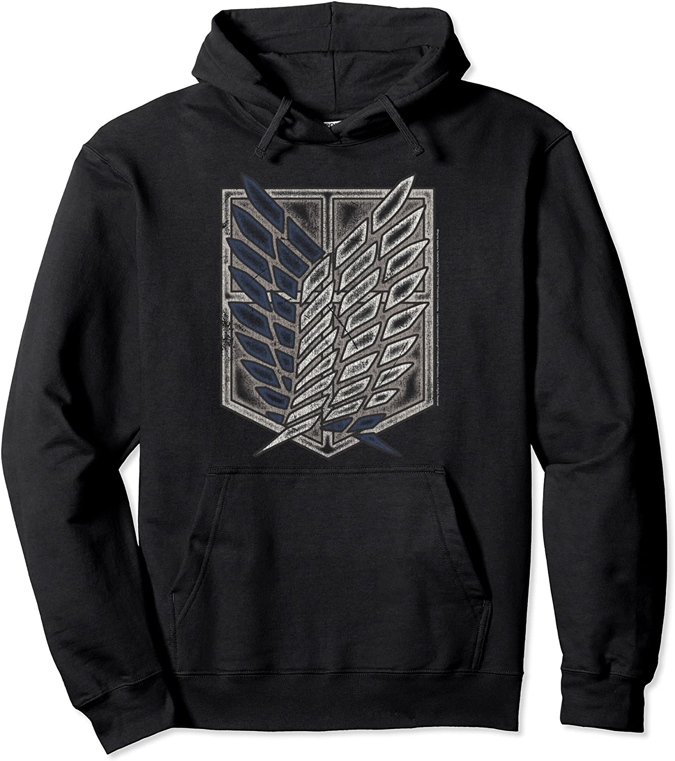 Attack on Titan Season 2 Distressed Scout Symbol Hoodie Pullover Hoodie-TH