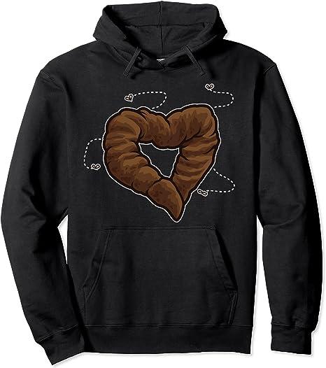 Liebe ist Scheiße   Kackwurst zu einem Herz geformt