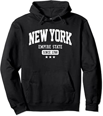 Vintage Collection Gym Hoodie New York Men/'s Navy Pullover Hoodie Fashion Hoodie Hooded Sweatshirt   Sweater Gift for Him