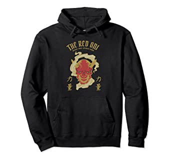 For Devil com Amazon Clothing Japanese Lovers Hoodie History Oni Demon Red And