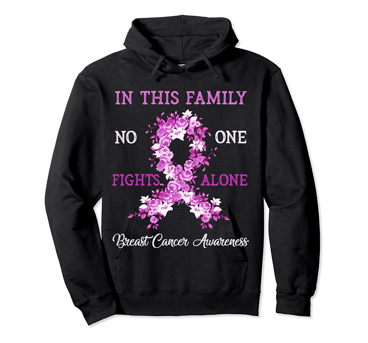 Family Support Breast Cancer Awareness Month Pink Ribbon Tee T Shirt Unisex Pullover Hoodie