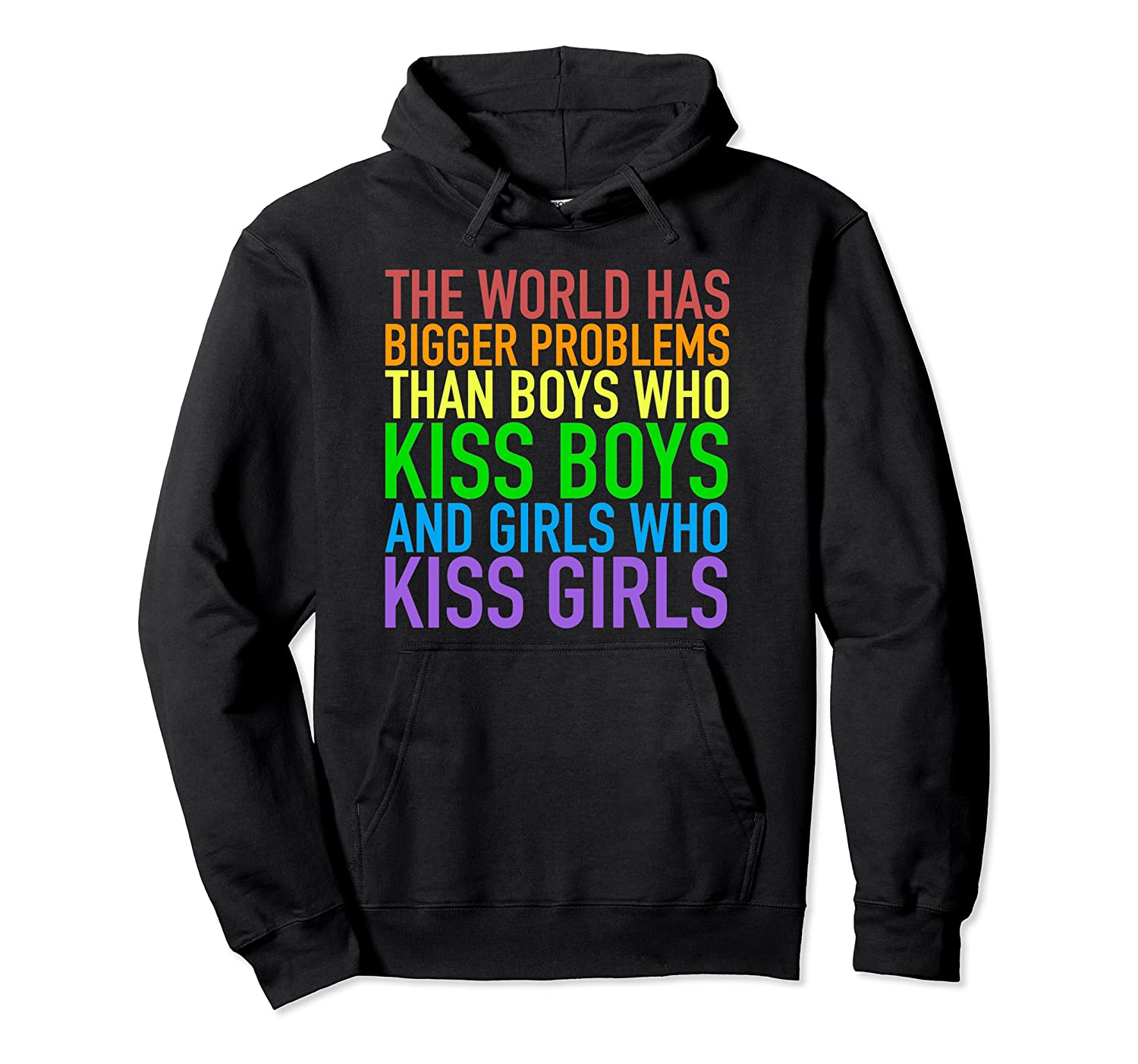Amazon.com: The World Has Bigger Problems | Gay Pride Hoodie ...