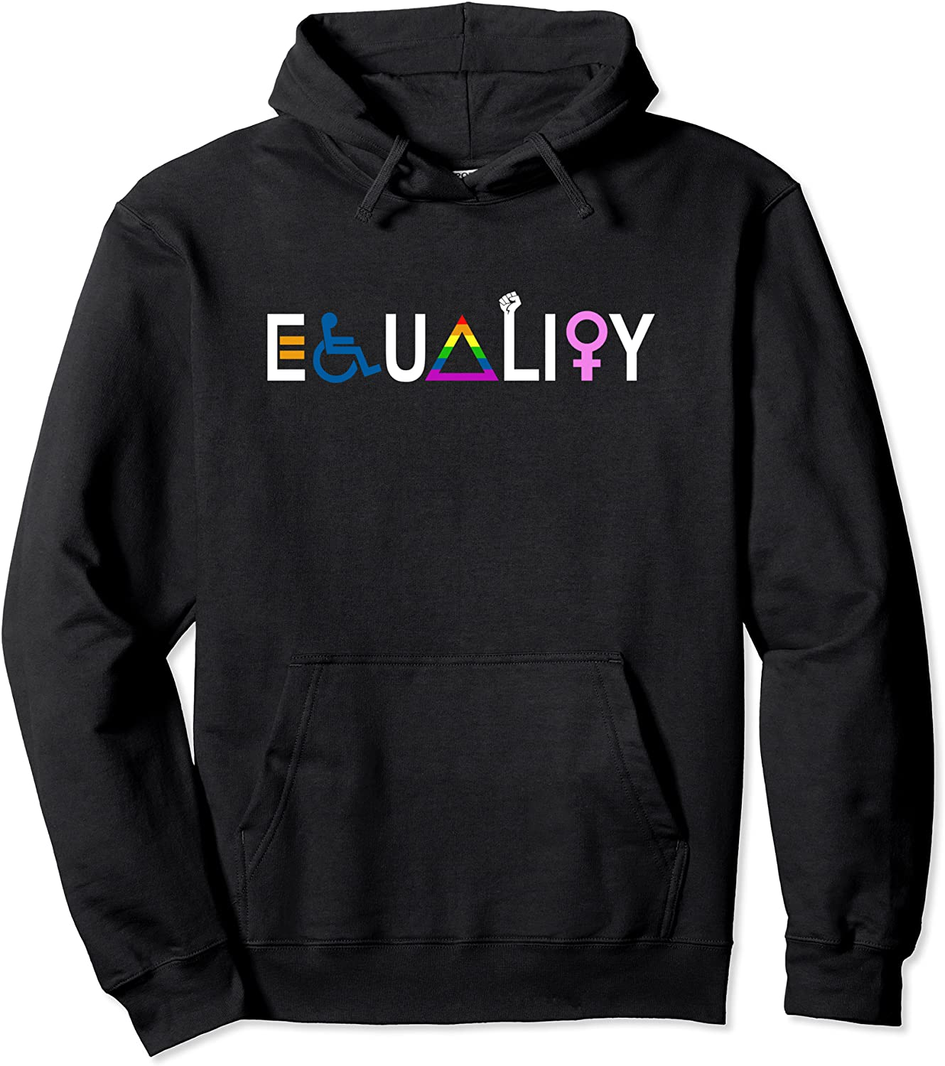 shipfree Equality and Inclusion LGBTQ Equal White Letter Cheap mail order sales Pul Civil Rights