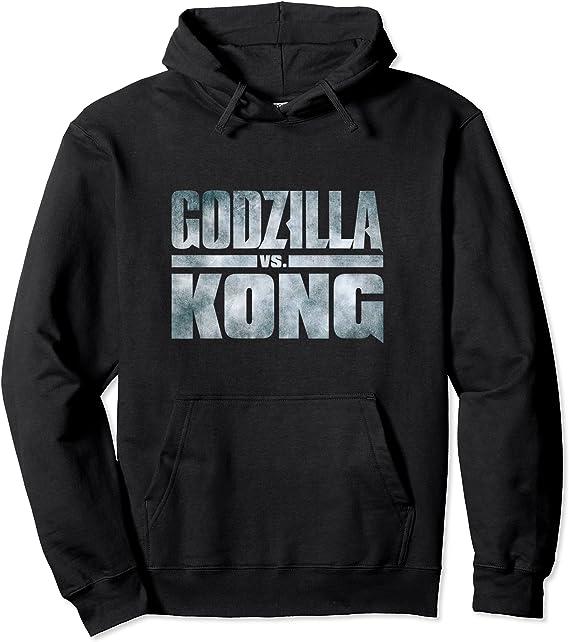 Godzilla vs Kong - Official Metallic Logo Felpa con Cappuccio