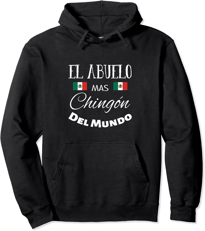 El 特価 Abuelo Mas 5☆好評 Chingon Mexican Flag for Pull t shirts chingon men