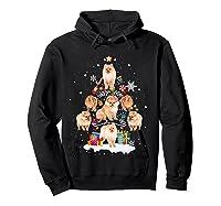 Pomeranian Christmas Tree Gift Xmas Holiday Shirts Hoodie Black
