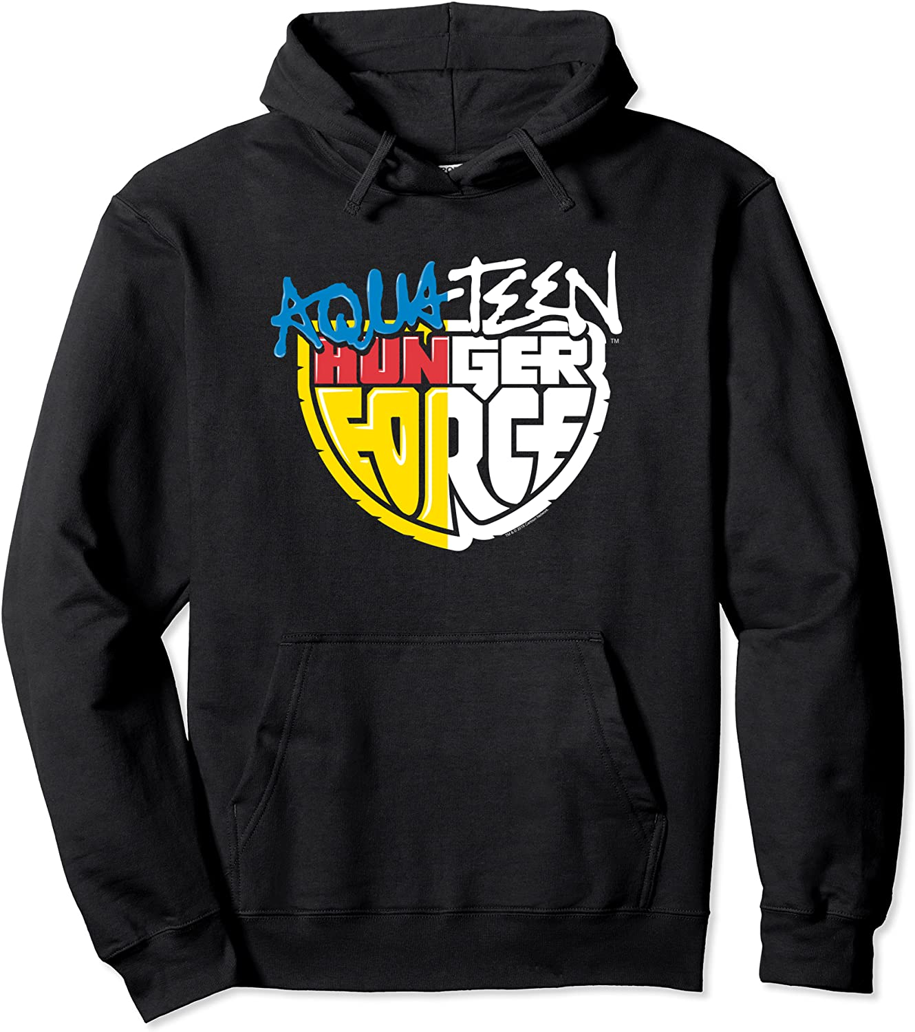 Cheap mail order specialty store Aqua Teen Hunger Outlet SALE Force Split Pullover Logo Treatment Hoodie