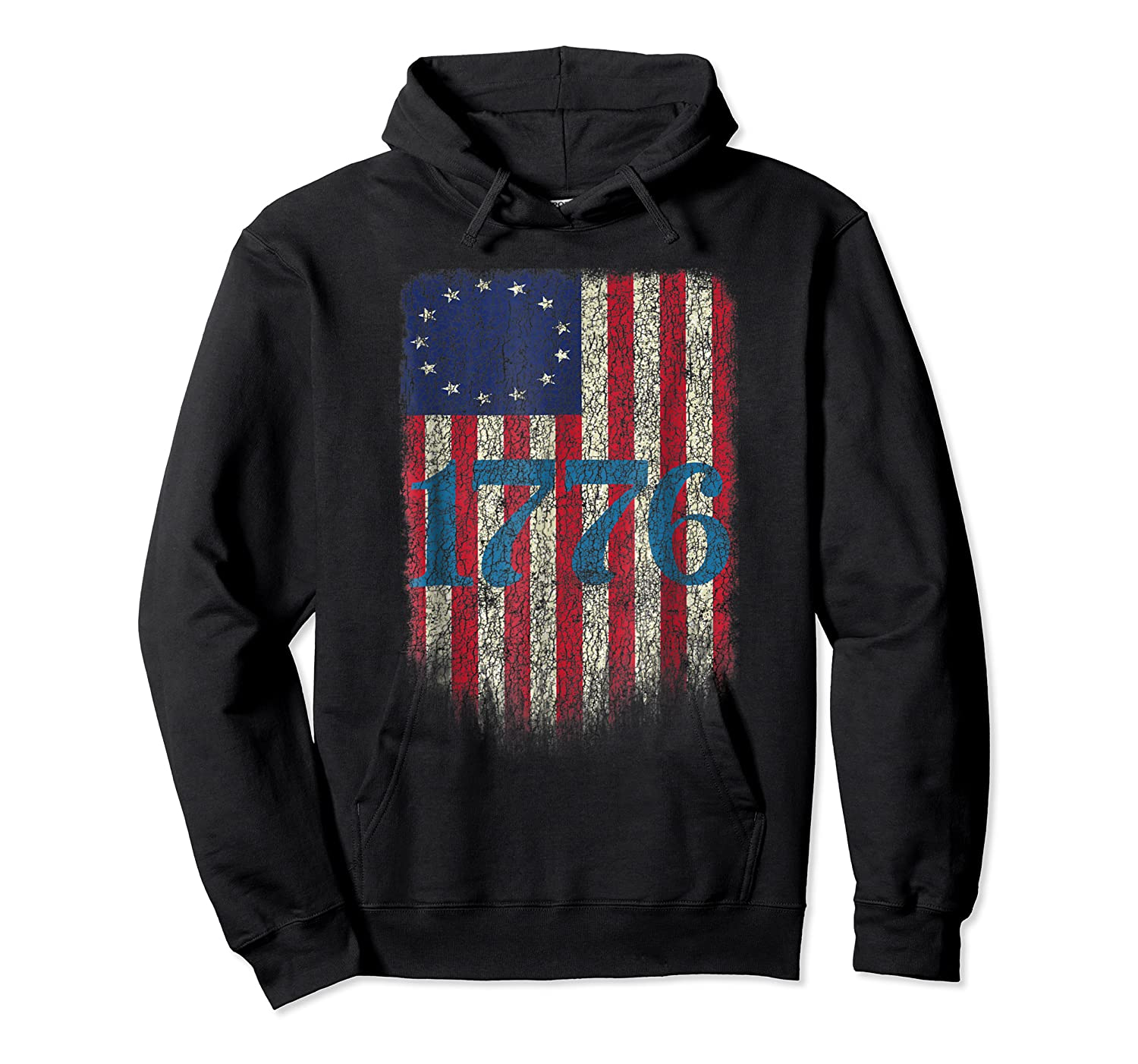 Betsy Ross Shirt 4th Of July American Flag Tshirt 1776 Unisex Pullover Hoodie
