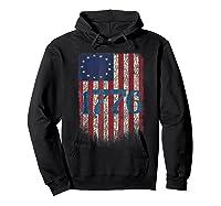 Betsy Ross Shirt 4th Of July American Flag Tshirt 1776 Hoodie Black