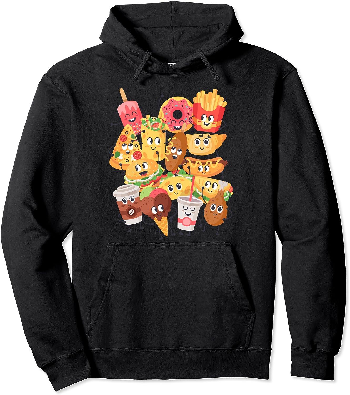 Comfort Food Inspired Fast Food Related Junk Food Kawaii Des Pullover Hoodie