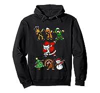 Dabbing Santa Friends Christmas Girls Xmas Gifts Shirts Hoodie Black
