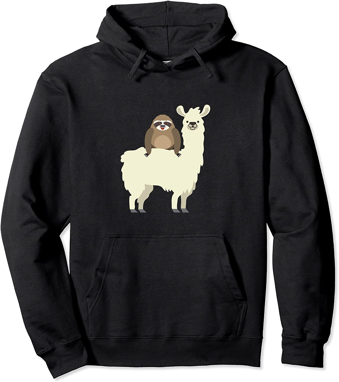 Long Beach Mall Japan's largest assortment Cute Funny Sloth Riding Hoodie Pullover Llama