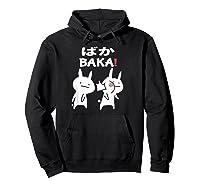 Baka Rabbit Slap Shirt Anime Japanese Gift Funny Pullover  Hoodie Black