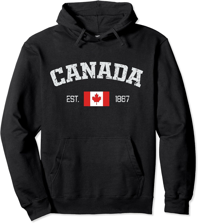 Vintage Canada Est. 1867 Maple Leaf Gift Hoodie