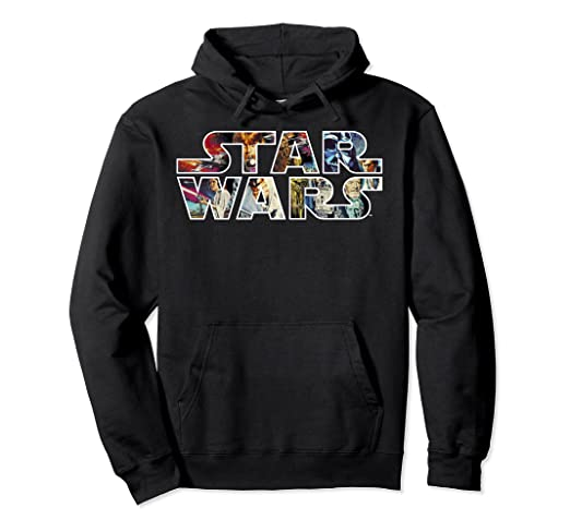 Star Wars Classic Movie Poster Logo Graphic Hoodie