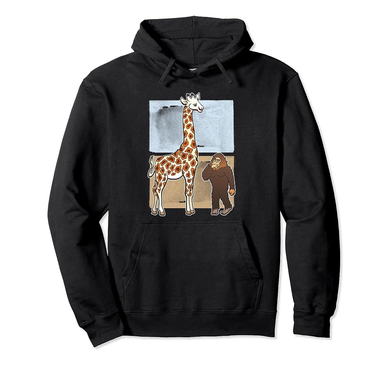 Adorable Giraffe Bigfoot Animal Lover Funny Gift Pullover Hoodie
