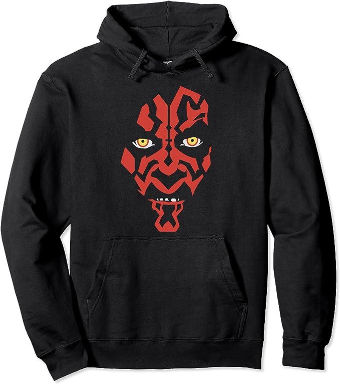 Darth Maul Embroidered Hoodie Star Wars Action Figure Series Black Hoodie Top