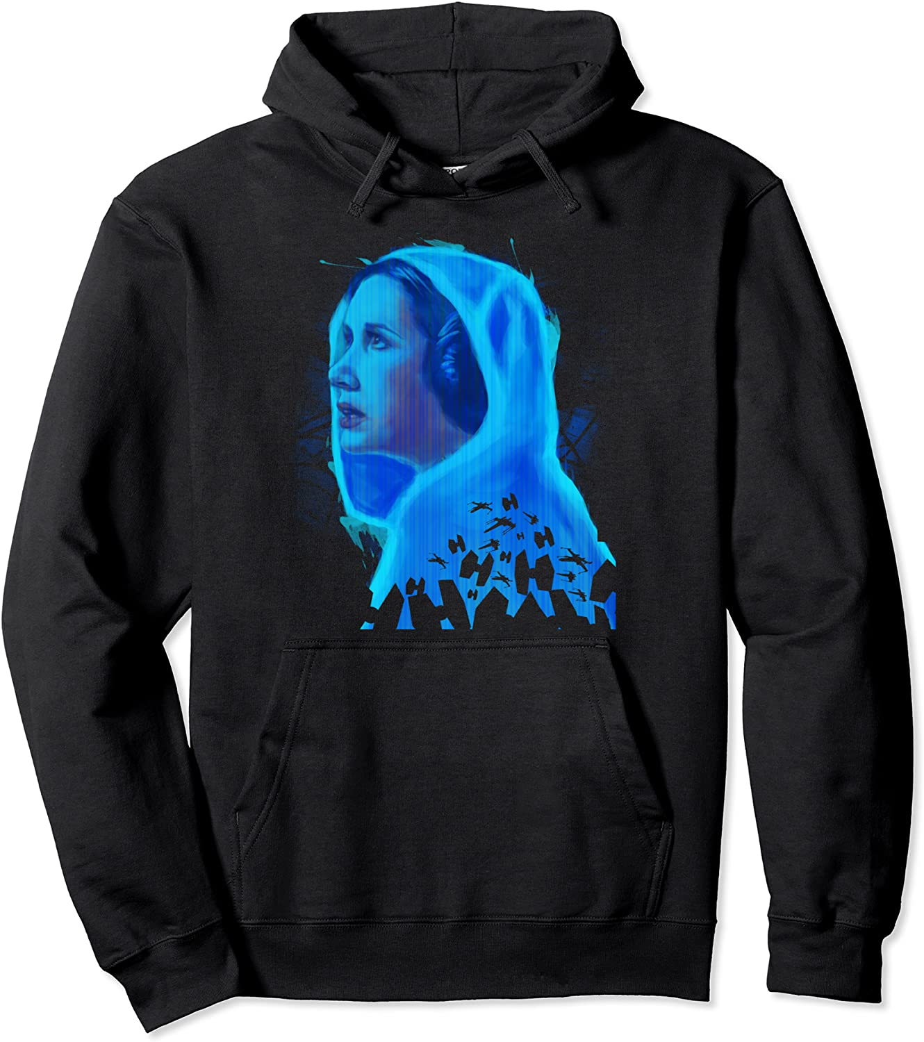 Star Wars Princess Leia specialty shop Graphic Hologram Don't miss the campaign Hoodie