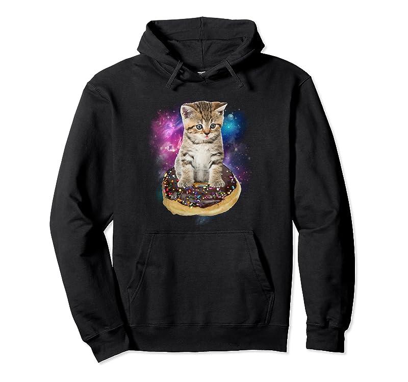 Space Donut Cat Shirt  Flying Kitty Galaxy T Shirt Pullover Hoodie Trending Design Tshirt