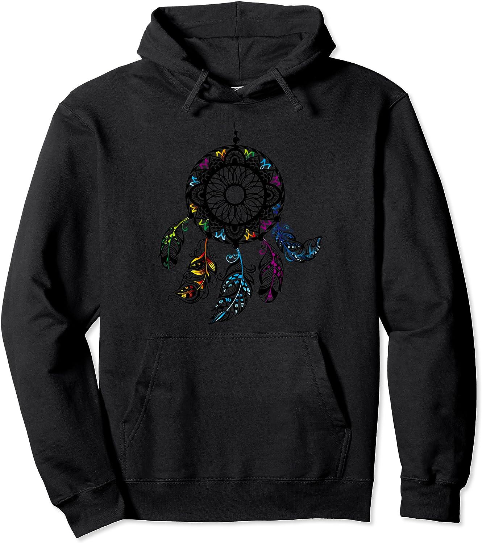 40% OFF Cheap Sale Beautiful Mesa Mall Black Dreamcatcher Boho Hoodie T-Shirt Feathers