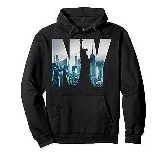 1e9e8278d6ba2 Amazon.com: New York City Skyline Hoodie, Urban NYC Fashion Hoodie: Clothing