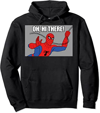 Marvel Spider-Man Swinging Oh, Hi There! Vintage Portrait Sweat à Capuche