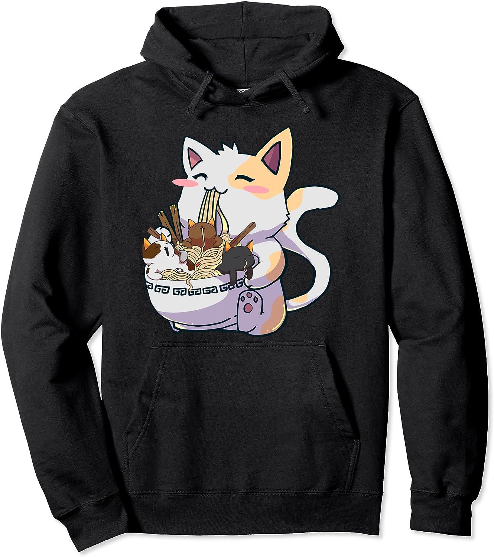 販売 Anime Ramen 流行のアイテム Cats Kawaii Neko Pullover Gift Hoodie Japanese