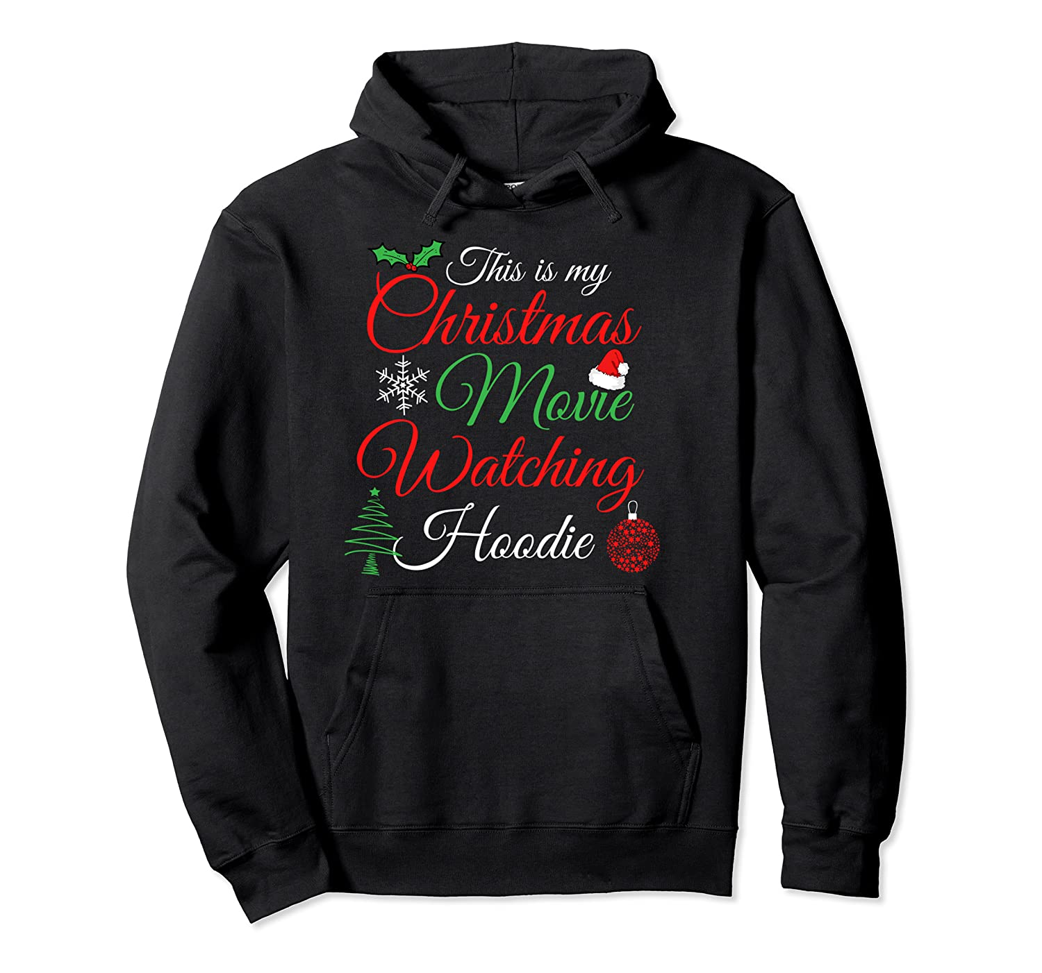 Funny Xmas Film Gifts, This Is My Christmas Movie Watching Pullover Hoodie