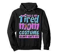 Tired Mom Scary Costume Shirt | Halloween Spider Bat  Hoodie Black