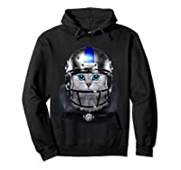 Cute Tabby Cat As American Football Player T-shirt Hoodie Black