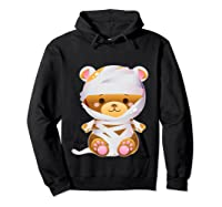 Mummy Bear Halloween Out Costume Party Gifts Pullover Shirts Hoodie Black