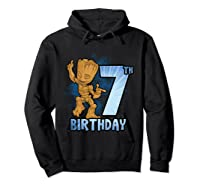 Guardians Of The Galaxy Baby Groot 7th Birthday Shirts Hoodie Black