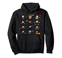 Friends Pixel Halloween Icons Scary Horror Movies Pullover Shirts Hoodie Black