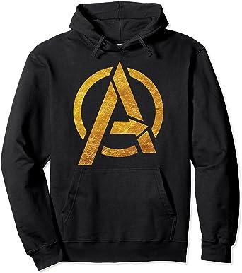 Marvel Avengers Gold Foil Chest Logo Sweat à Capuche