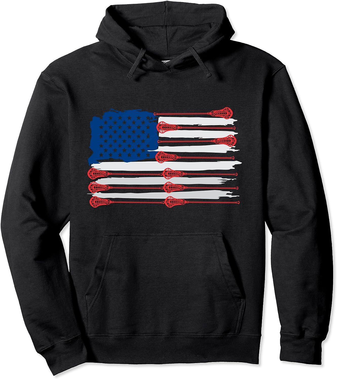 American Flag LAX Lacrosse sticks Seattle Mall for kids Pullover men Arlington Mall Ho women