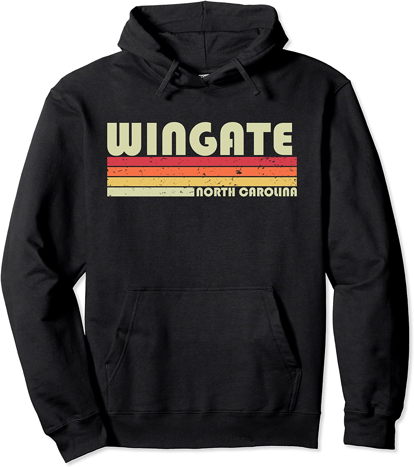 WINGATE NC NORTH CAROLINA Funny City Home Roots Gift Retro Pullover Hoodie