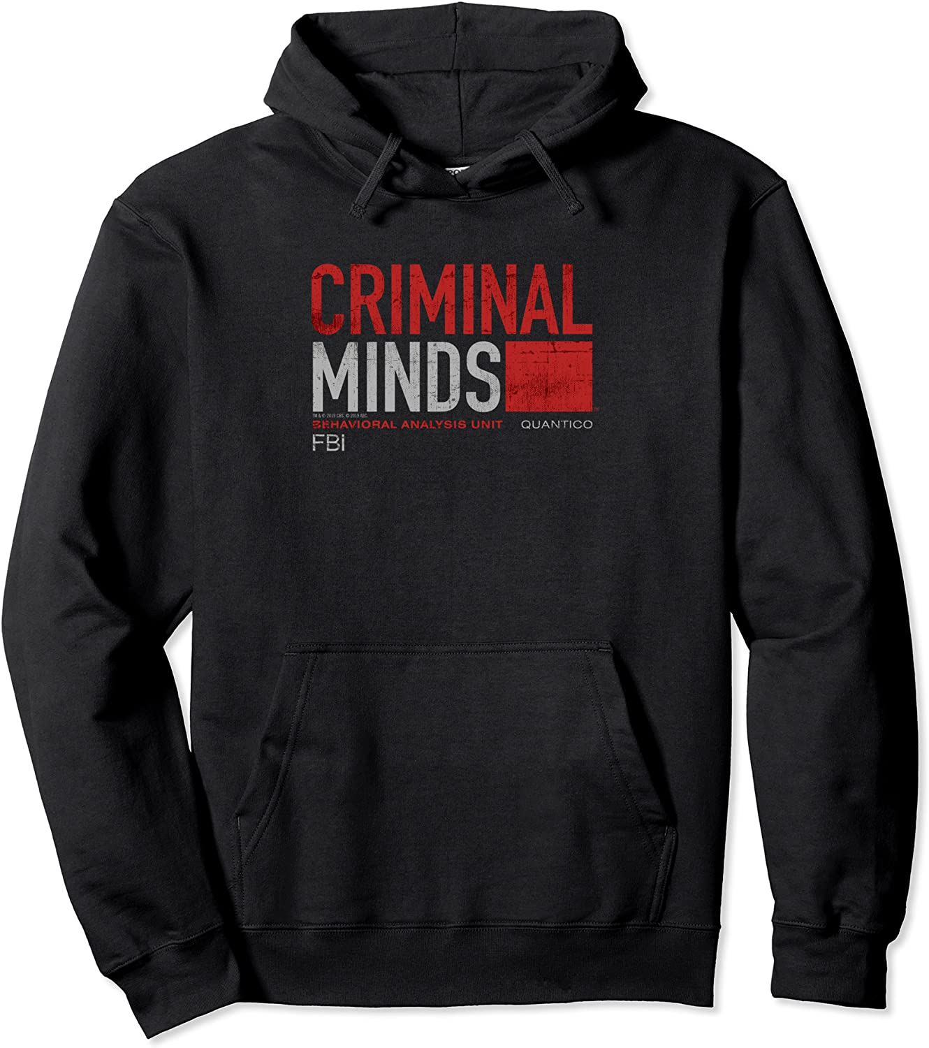 Criminal Minds Distressed BAU Pullover Quantico Be Popular shop is the lowest price challenge super welcome Hoodie