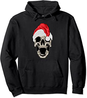 Chapeau de Père Noël amusant en forme de squelette Sweat à Capuche