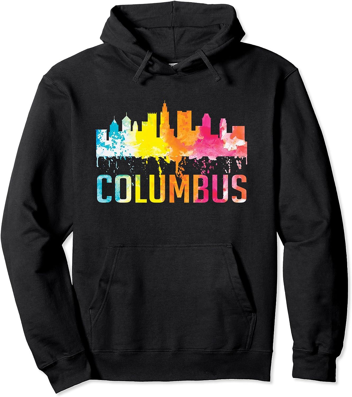 Columbus Ohio 新登場 Watercolor City Skyline Souvenir 超歓迎された Art Pullove Gifts