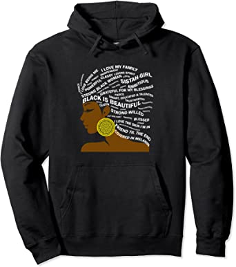 African American Strong and Beautiful Crop Hoodie