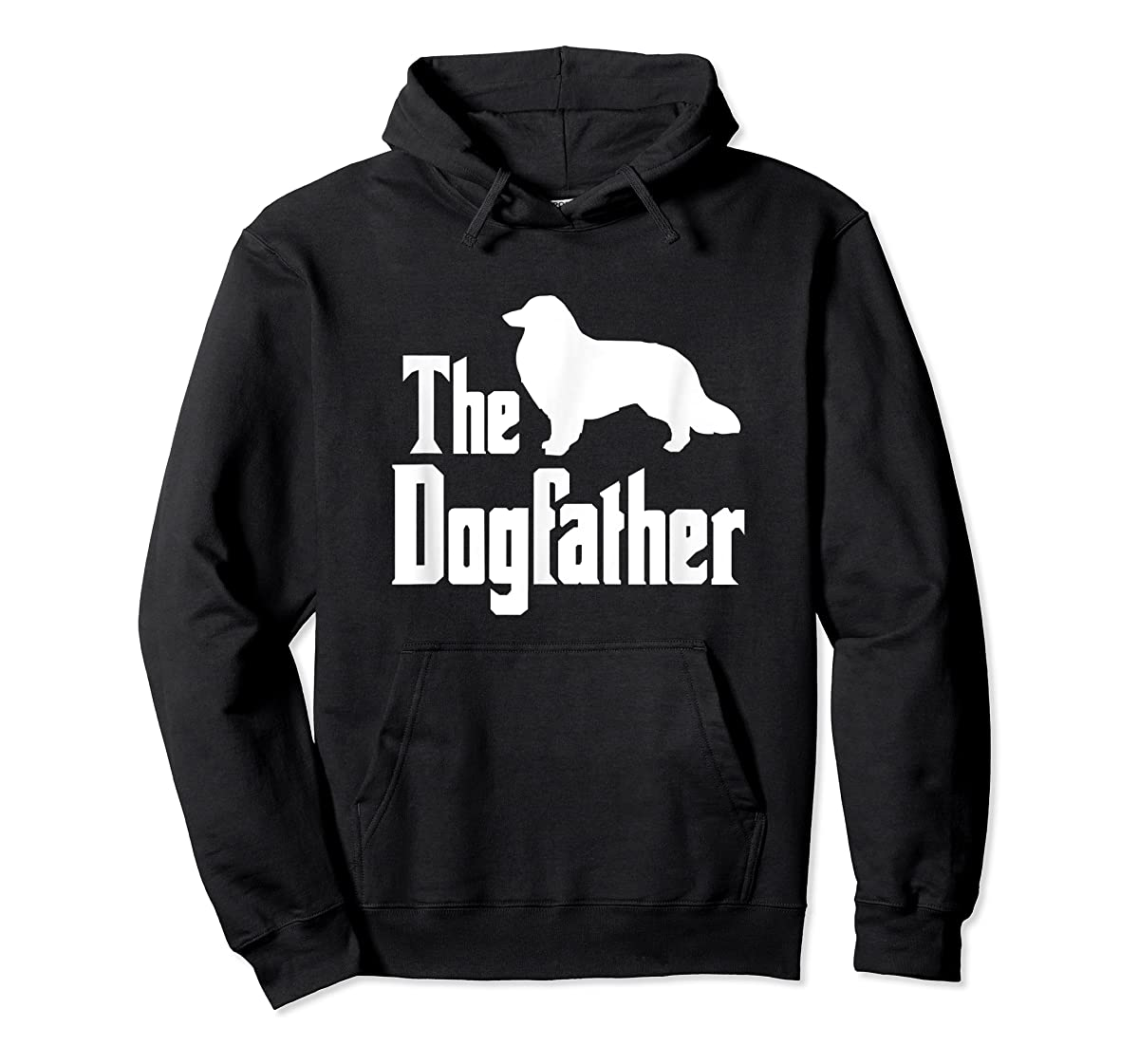 The Dogfather - funny Rough Collie T-Shirt, funny dog gift-Hoodie-Black