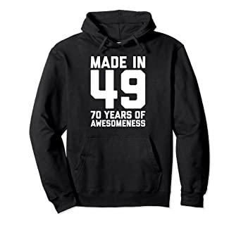 Image Unavailable Not Available For Color 70th Birthday Hoodie Women Age 70 Year Old Grandma Mom Gifts