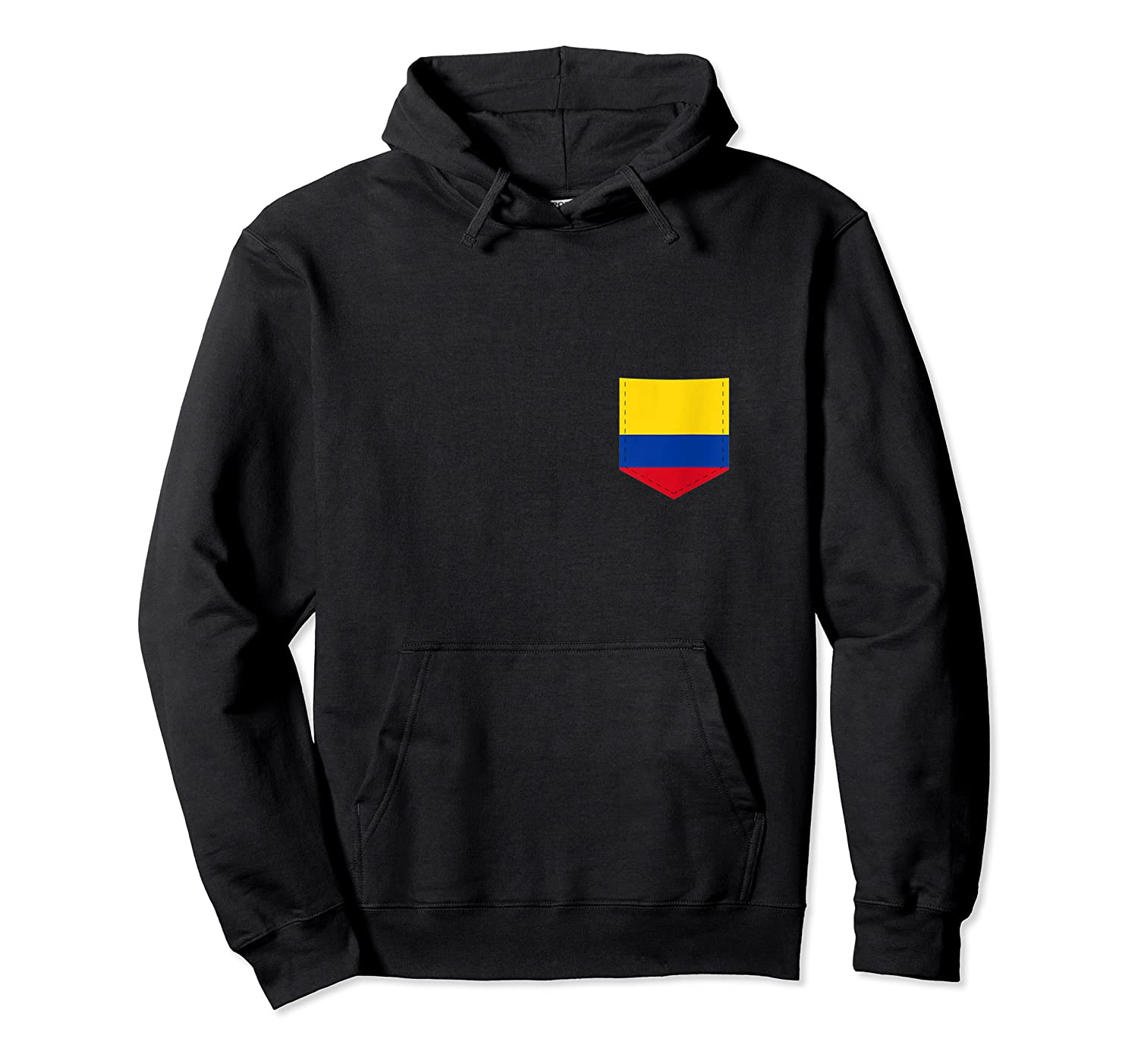 Colombia Flag Design With Printed Colombian Flag Pocket Tank Top Shirts Unisex Pullover Hoodie