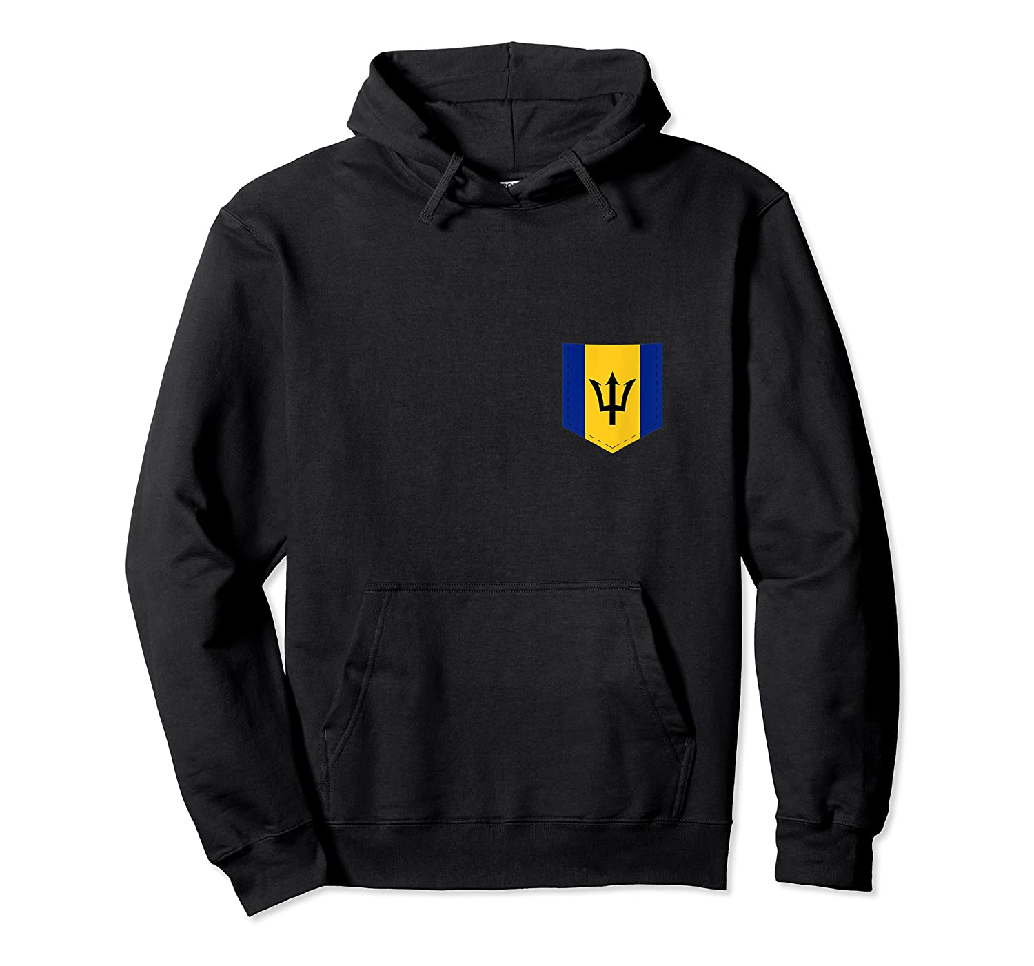 Barbados Flag Design With Printed Barbadian Flag Pocket Tank Top Shirts Unisex Pullover Hoodie