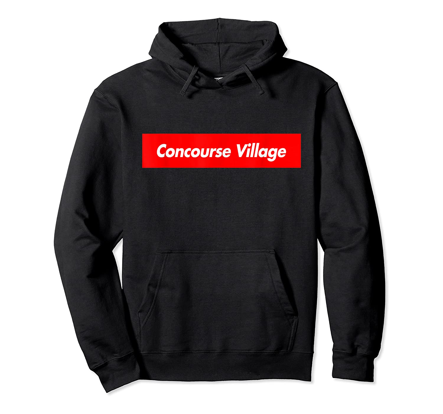 Concourse Village Parody Box Logo Style Funny Shirts Unisex Pullover Hoodie