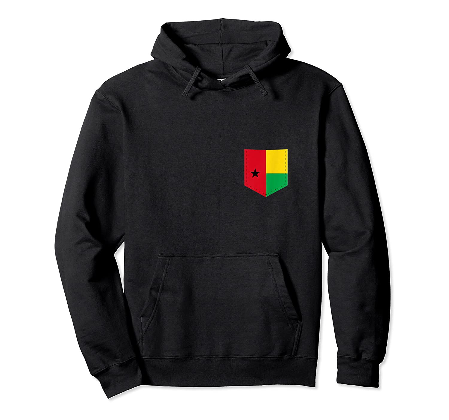 Guinea Bissau Flag Art With Printed Guinea Bissaun Pocket Tank Top Shirts Unisex Pullover Hoodie