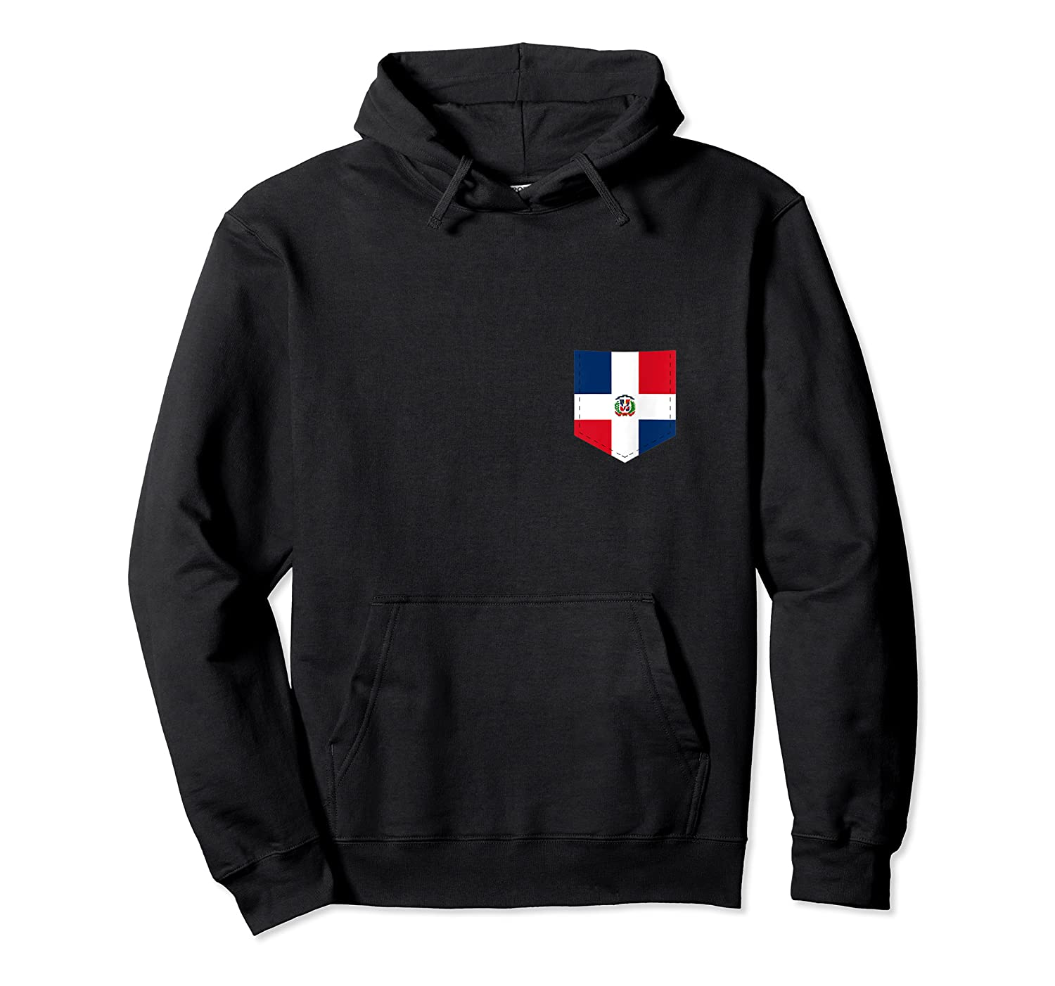 Dominican Republic Flag Art W Printed Dominican Flag Pocket Tank Top Shirts Unisex Pullover Hoodie