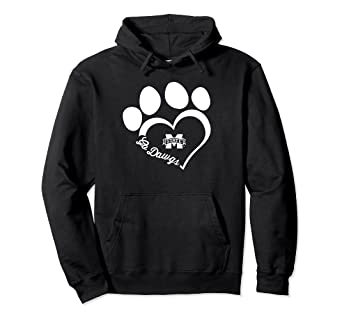 Amazon com: Mississippi State Bulldogs Paw Heart Outline